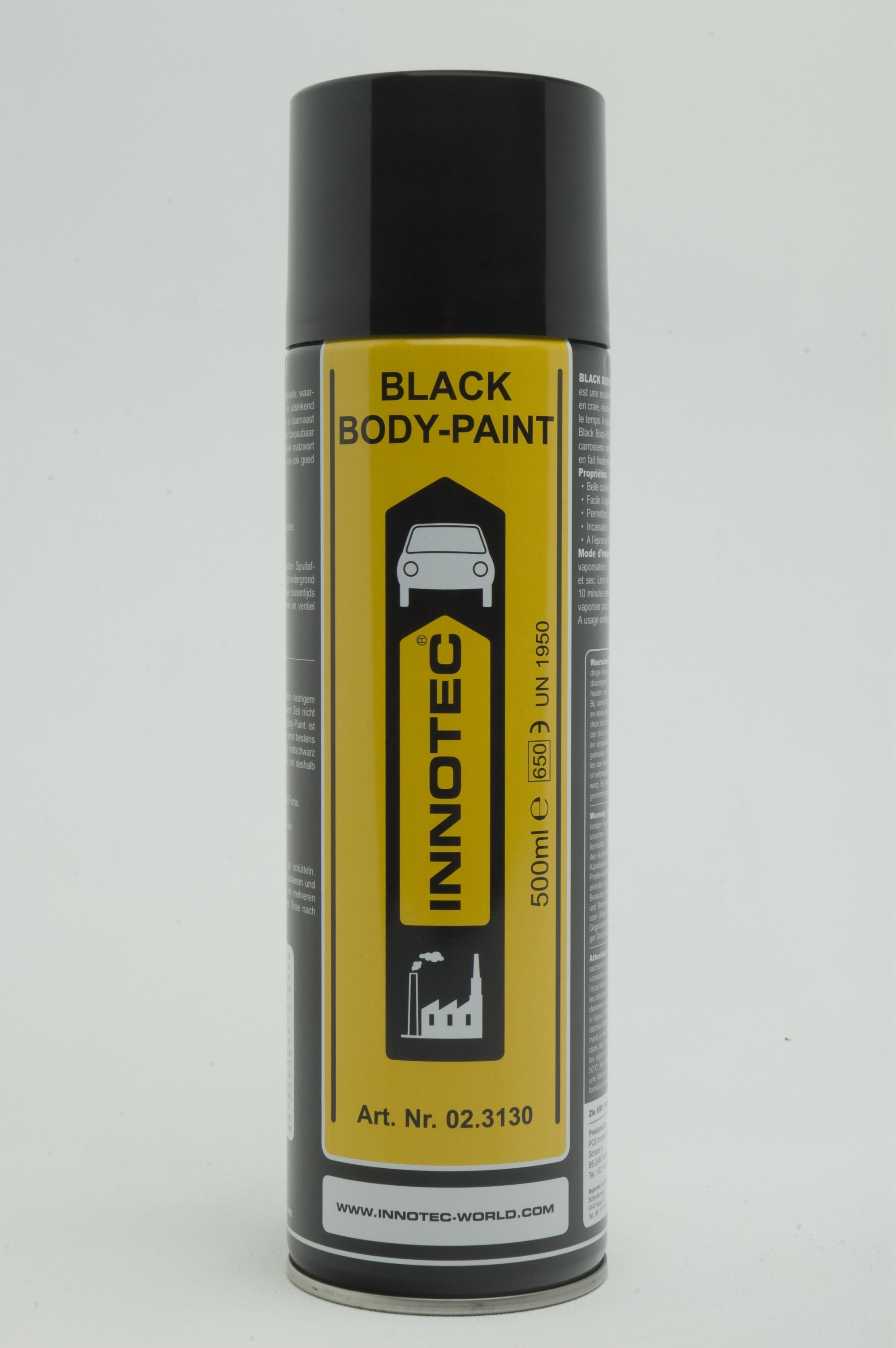 BLACK BODY PAINT -NOIR MAT 500ML