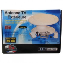 ANTENNE TV MUTIDIRETIONNELLE 12-24-220. AMPLI 40DB