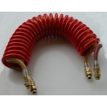 TUBE SPIRALE PU DOUBLE M16x1,5 (ROUGE -Jaune)