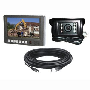"KIT RETROVISION ECRAN PLAT 7"" 4 IMAGES + 1 CAM ARR + 20M CABLE"